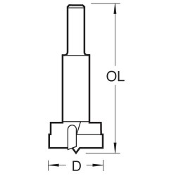 1004/10TC Lip and spur two wing bit 10mm diameter