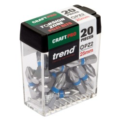CR/QR/IPZ2/20 Craft Pro 25mm Bit Pozi No2 Twenty Pack